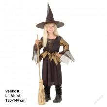 Karnevalový kostým - Čarodějnice 130 -140 cm
